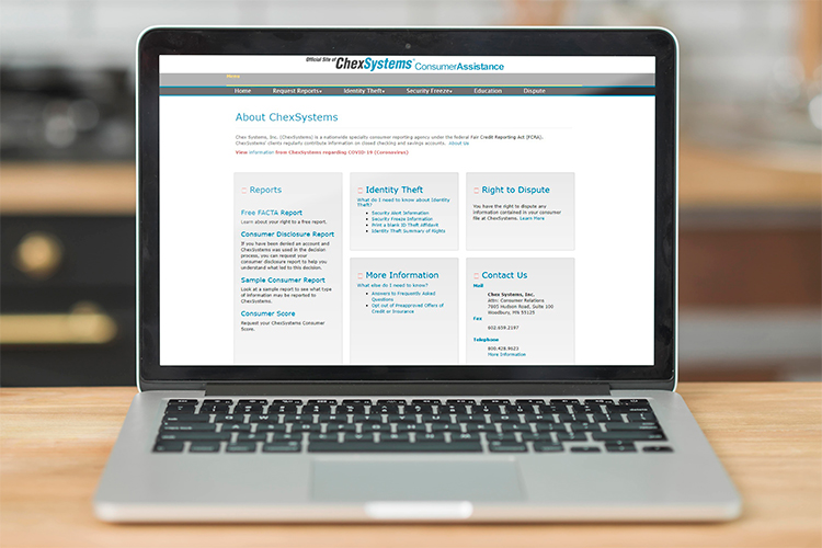 Chexsystems official website